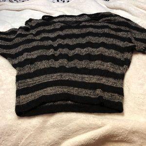 Strip sweater top